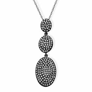 Crystaluxe-Drop-Pendant-with-Slate-Swarovski-Crystals-in-Sterling-Silver