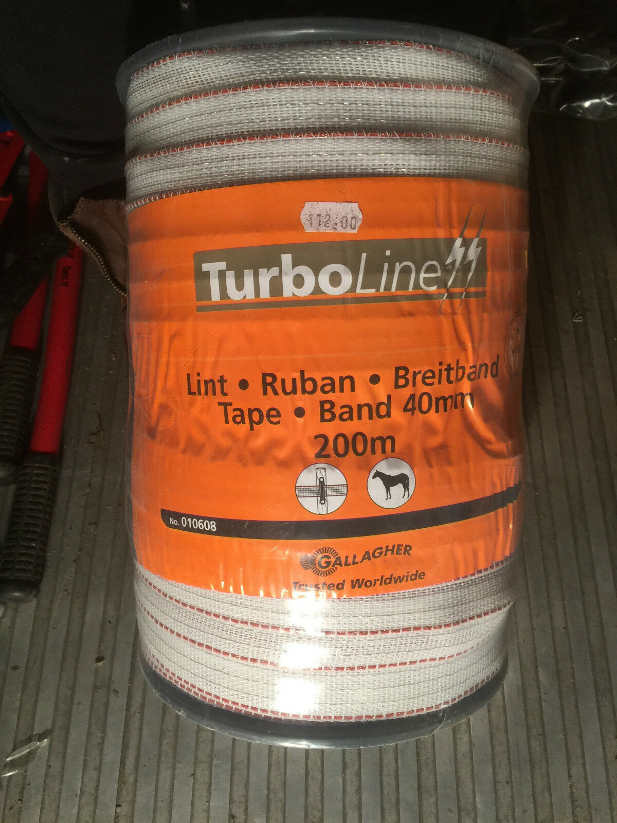 Gallagher Electric Fencing Turbo  Line White 40mm x 200m Roll 010608  sale outlet