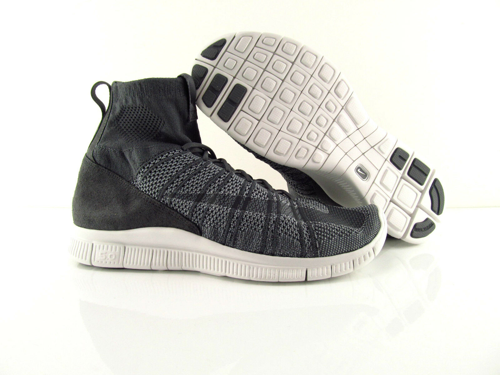 Nike Air Free Flyknit Mercurial Dark Wolf Grey US_12 Eur 46
