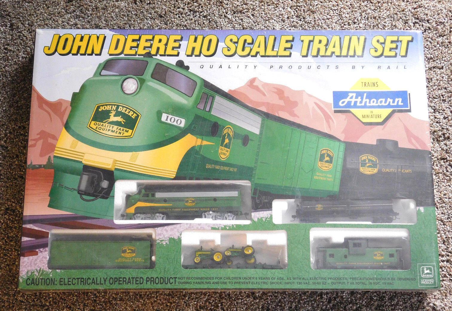 2 Sets New in Box  TRAIN ATHEARN Vintage John Deere HO & John Deere Accessoire échelle