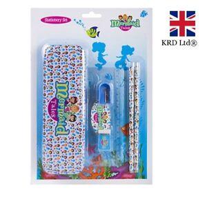 Tin Pencil Case Stationary School Set Pencil Ruler Rubber Tin Gift Kids