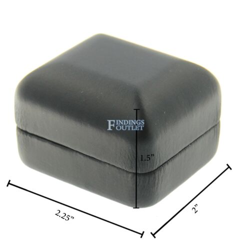 Black Faux Leather Engagement Ring Box Display Jewelry Gift Boxes Classic 1 Dzn