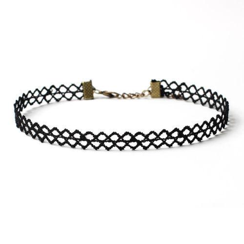 10PCs Women Choker Leather Charm Necklace Set Girls Vintage Retro Collar Jewelry