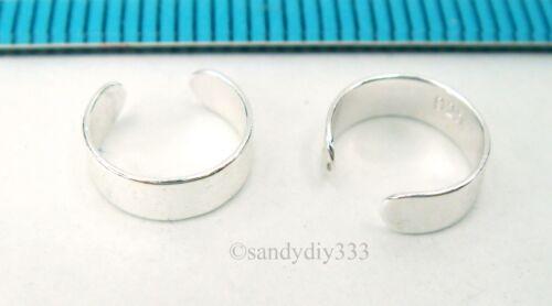 2x 925 Sterling Silver Clip-on Round Plain Bague Enveloppé Bijou d/'oreille Boucles d/'oreilles #2491