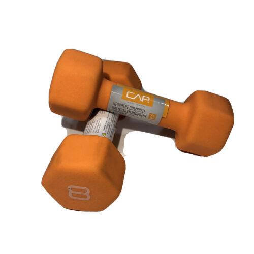 CAP 8lb Neoprene Hex Dumbbell Hand Weight Pair Set BRAND NEW