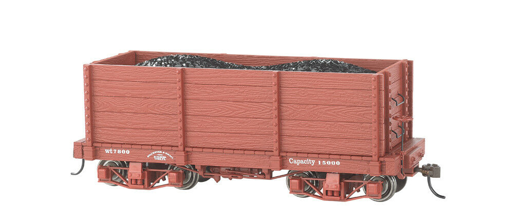 Bachmann On30 26541 18 ft. High-Side Gondola - Oxide rosso, Data Only  2 per box