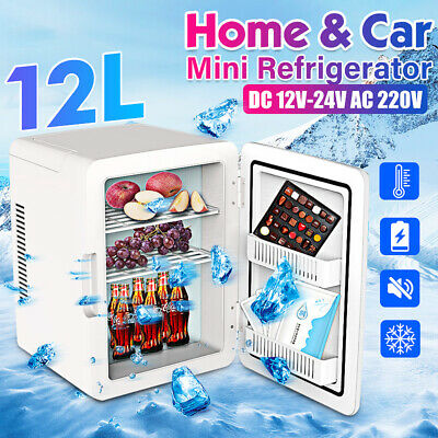 12L 12V//220V Portable Mini Car Fridge Freezer Travel Cooler Warmer Refrigerator