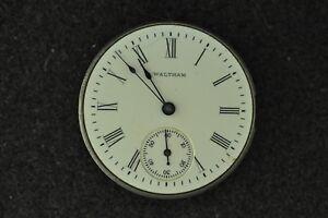 Humor Vintage 0 Size Grade 160/161 Waltham H.c Pocket Watch Movement Not Running