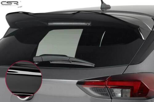 Heckflügel Dachspoiler Heckspoiler für Opel Corsa F schwarz glänzend 2019