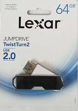 NEW Lexar 64GB Jumpdrive S73 USB 3.0 Flash Drive White//Green Sealed