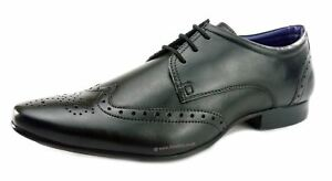 e4b50b7221bdb Silver Street Fleet Formal Brogue Lace Up Leather Mens Shoes Tan or ...