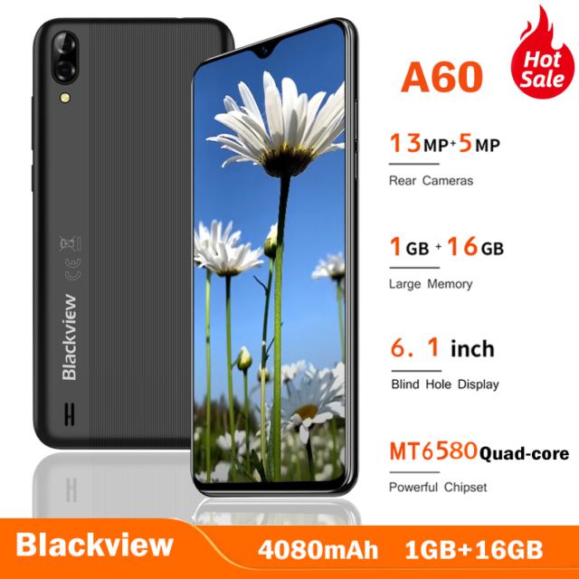 "Blackview A60 Teléfono Móvil Smartphone Dual SIM 6,1"" 1GB/16GB ROM 13MP 4080mAh"