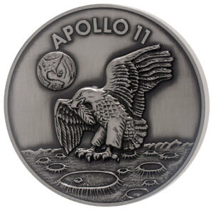 Obliging 1969-2019 Apollo 11 50th Robbins Medal 5 Oz Silver W Alloy Antiqued Sku56029 Apollo