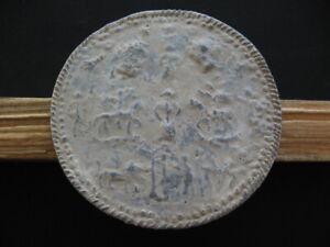 DANUBIAN-HORSEMAN-CULT-ANCIENT-CELTIC-ROMAN-LEAD-VOTIVE-PLAQUE-1-3-ct-AD-98-mm