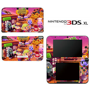 Vinyl-Skin-Decal-Cover-for-Nintendo-3DS-XL-LL-Animal-Crossing-New-Leaf-Autumn