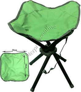 4-LEGS-PORTABLE-FOLDING-CAMPING-STOOL-CHAIR-SEAT-HIKING-BBQ-OUTDOOR-FISHING-NEW