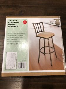 Amazing Details About New 29 Robinson Swivel Barstool Bronze Finish Metal Tan With Microfiber Cushion Dailytribune Chair Design For Home Dailytribuneorg