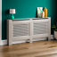 thumbnail 154 - Radiator Cover White Unfinished Modern Traditional Wood Grill Cabinet Furniture