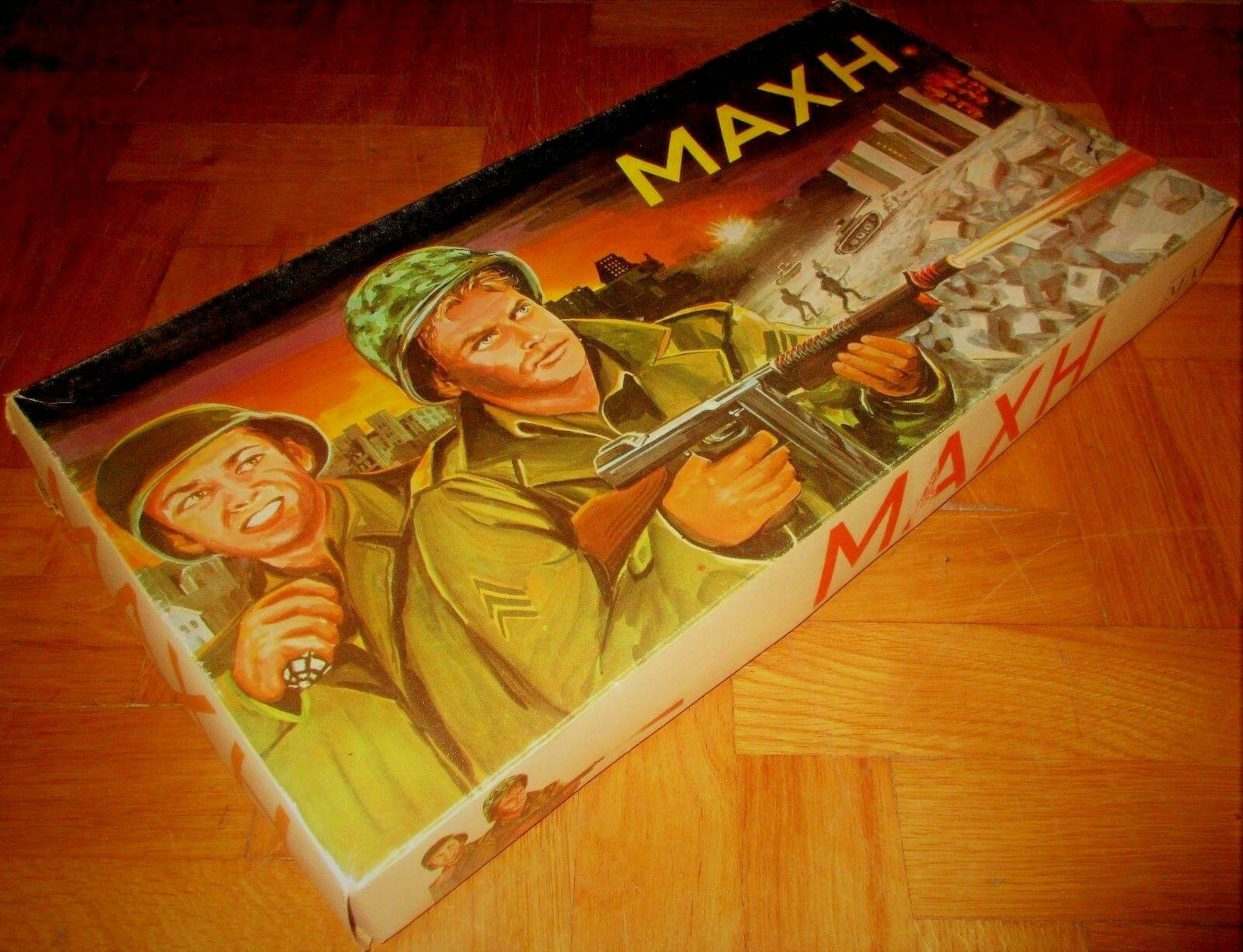 AMAZING RARE GREEK BOARD GAME GAME GAME - COMBAT - TV WAR SHOW FROM 70s FROM M L NEW 6a609d