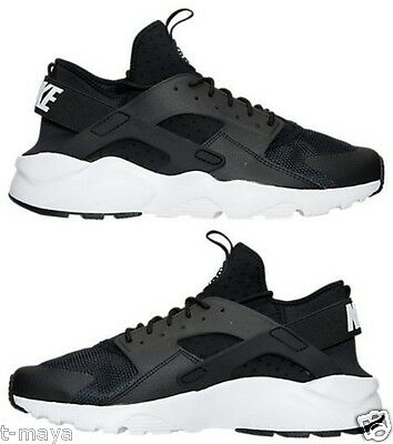 size 40 3644a 20a4d Nike Air Huarache Run Ultra Men s M Running Black - White - Anthracite  Authentic