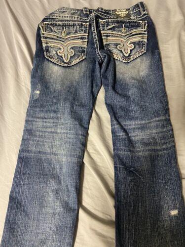 mens rock revival jeans 32