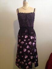Nina Ricci Fall 2012 Purple Pink Floral Silk & Wool Blend Dress Sz 36 NWT
