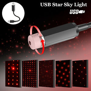 USB-Car-Interior-LED-Light-Roof-Home-Atmosphere-Starry-Sky-Lamp-Star-Projector
