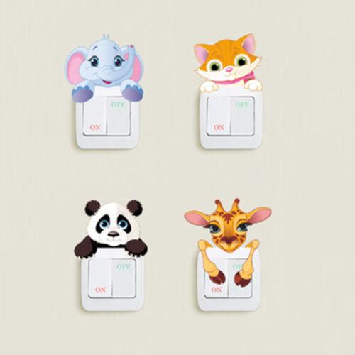 Cute Little Animal Light Switch Sticker Kids Bedroom Vinyl Wall Decal Room Decor