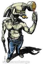 Hammer Head Sticker Decal Poster Artist Derek Hess DH2