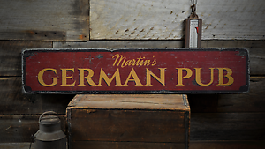 Details about German Pub, Custom Family Last Name - Rustic Distressed Wood  Sign ENS1001648