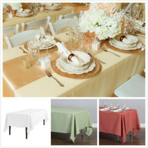 """10 Pk Chocolate 72x120/""""  Polyester Rectangle Seamless Tablecloth Wedding Party"""