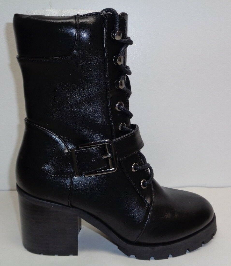 Buffalo Shoes Size 8 Eur 38 B163A-72 Black Lace Up Ankle Boots New Womens Shoes