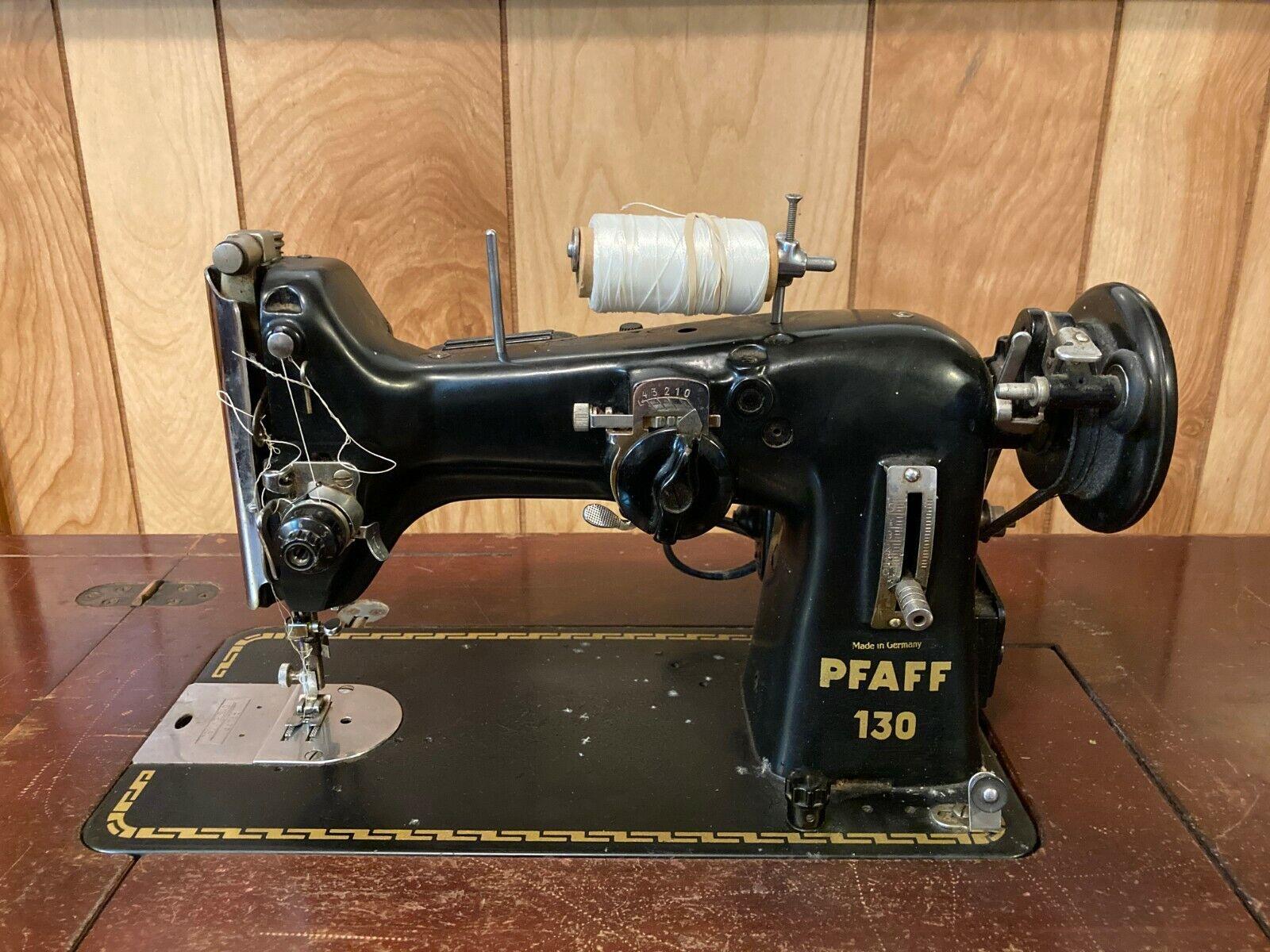 Retro vintage Home Decor Pfaff Model 130-6 semi-Industrial Zig Zag Vintage Sewing Machine Vintage Fashion Textiles Decorative  Antiques