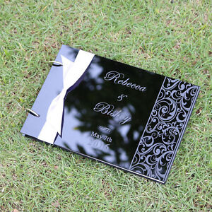 Personalized-Engraved-Names-Acrylic-Wedding-guest-book-album-Valentine-gift