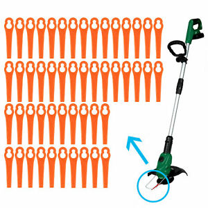 Lot de 100 lames Jardin pelouse  orange pour coupe-bordures BG RG CT GE-CT 18 Li