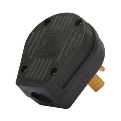 NEMA 10-30P 125V-250V 30A Dryer Power Plug For RV /& Generator 3 Prong