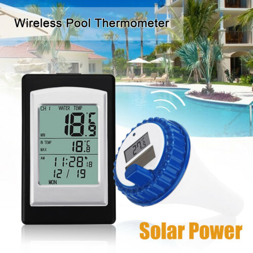 AU Wireless Solar Floating Thermometer For Swimming Pool Water SPA Temperature
