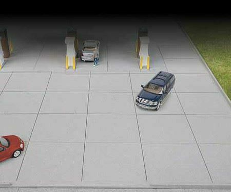 WALTHERS CORNERSTONE HO SCALE GAS STATION PARKING LOT KIT 933-3540