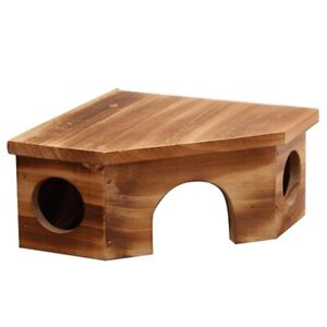 Natural-Wood-Small-Animal-Pet-Hamster-House-Bed-Summer-Cool-Guinea-N2E4