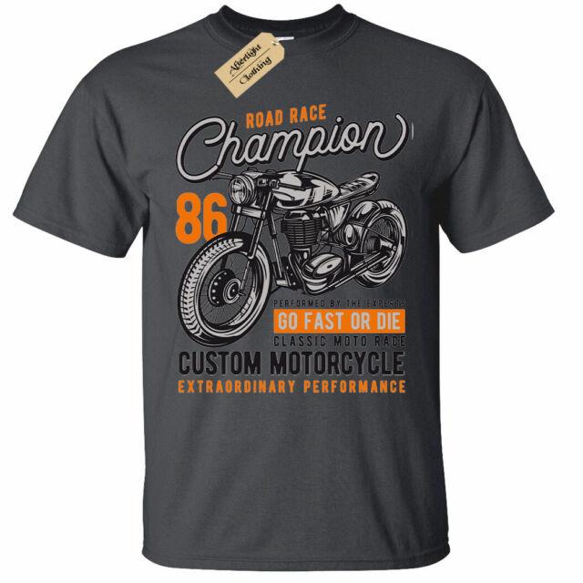 Road Race Champion T-Shirt Mens custom motorcycle biker clothing top