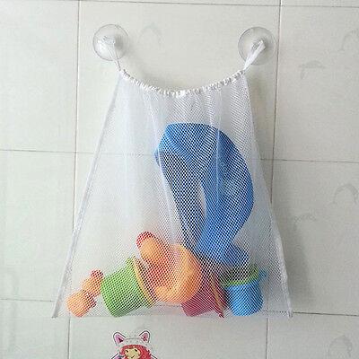 Baby Bath Time Toy Tidy Storage Suction Bag Mesh Net Bathroom Mesh Bag New