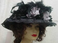 Elsie Massey Edwardian Victorian Style women's hat with pin 16082