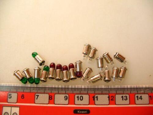 #la1+4 verde claro 20 x ms4 steckbirnen 19 V para accesorios Märklin rojo