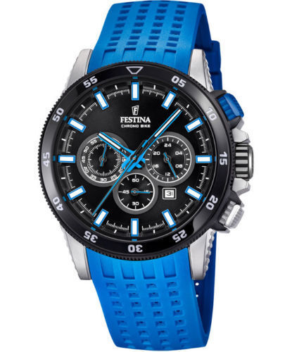 38538c6b13e Festina 2018 Chrono Bike Rubber Band Blue F20353 7 Watch for sale online
