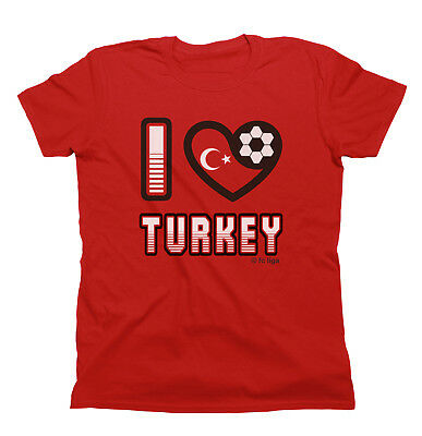 I LOVE TURKEY Football T-Shirt New *Choice Of MENS LADIES KIDS*