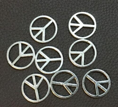 Metal Alloy Antique SilverColour 50 Peace Sign Charms