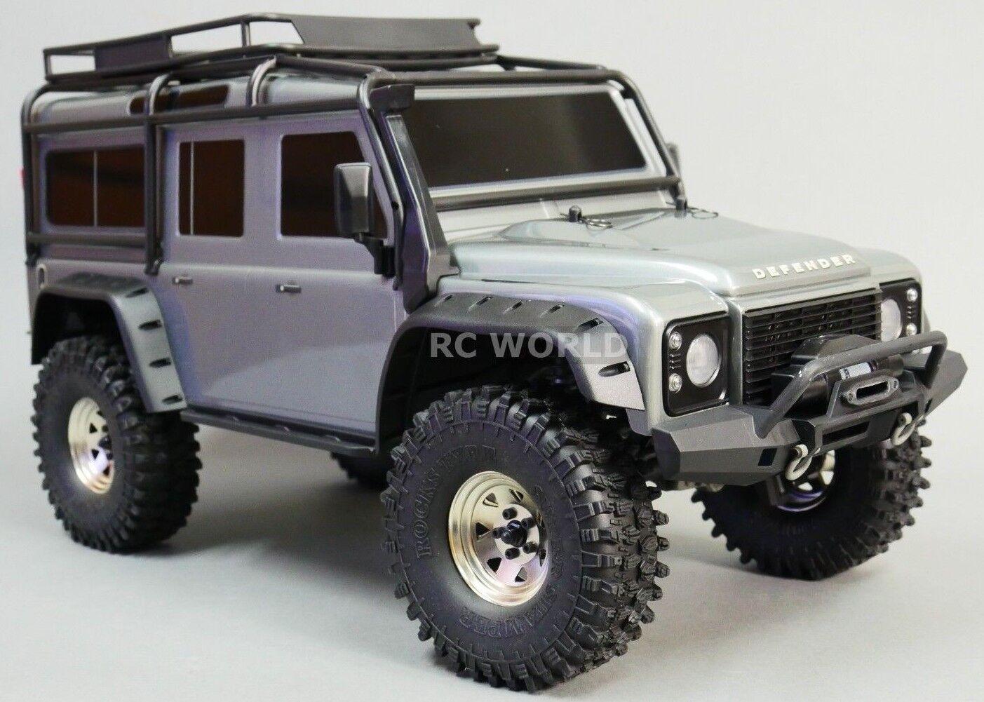 Llantas para camión Traxxas TRX-4 1.9 Acero STAMPED beadlock con neumáticos de Plata 120MM