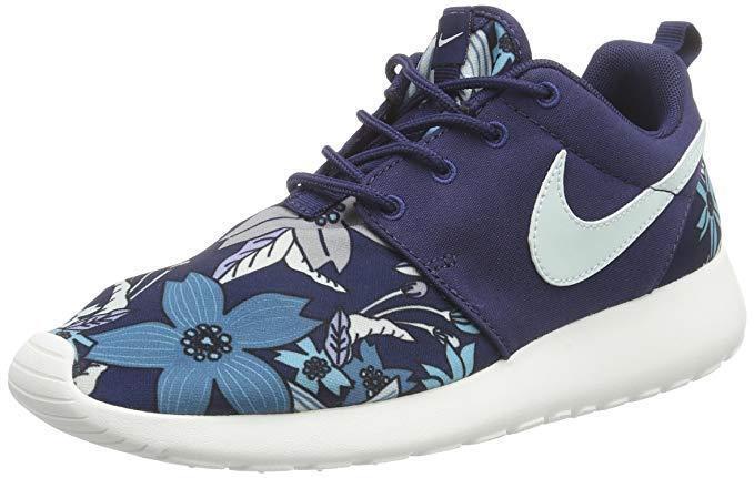 Womens Premium Nike Roshe One Print Premium Womens Neu Gr:39 free flyknit presto moire blau 08deeb
