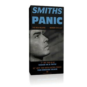 The-Smiths-039-Panic-039-Promo-Poster-20x10-inch-Framed-Canvas-Print
