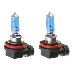 2 X H11 55w Halogen Light Bright White Car Headlight Bulbs Bulb Lamp
